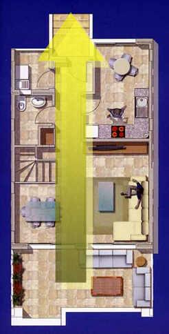 ... การหาฉากหรือเฟอร์นิเจอร์มาวางกั้นระหว่างประตูหน้าบ้านและหลังบ้าน  ก็เป็นสิ่งที่ท่านสามารถทำเพื่อเสริมฮวงจุ้ยได้เช่นเดียวกันนะครับ